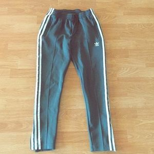 Adidas 3 stripes training track pants uk 8/small